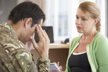 counselling: Soldier Having Counselling Session
