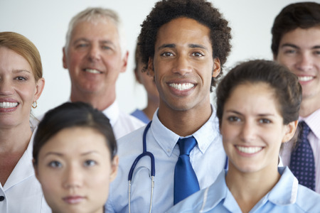 general practitioner: Portrait Of Medical Team Stock Photo