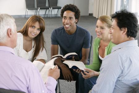 studie: Setkání Bible Study Group Reklamní fotografie