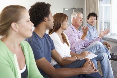 mixed age range: Meeting Of Support Group