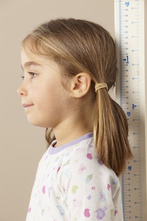 5 year old: 5 year old girl measuring height