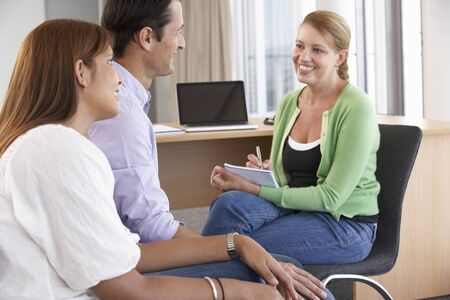 session: Couple Having Counselling Session Stock Photo