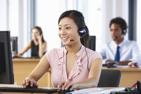 telephonist: Friendly Customer Service Agent In Call Centre