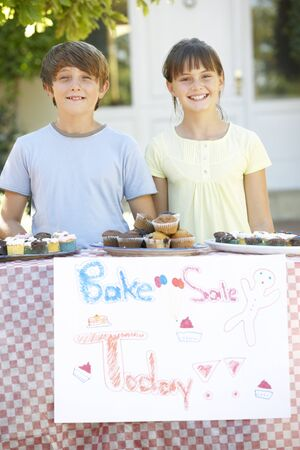 bake sale sign: Children Holding Bake Sale