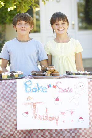 bake sale sign: Children Holding Bake Sale