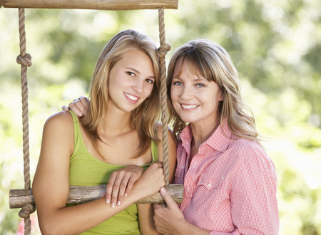 about age: Mother And Teenage Daughter By Treehouse