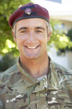 one armed: Portrait Of Soldier Wearing Uniform