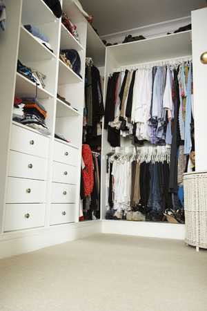 Tidy Teenage Bedroom With Neat Wardrobe