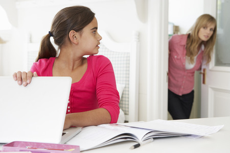 meant: Mother Catches Daughter Using Laptop When Meant To Be Studying