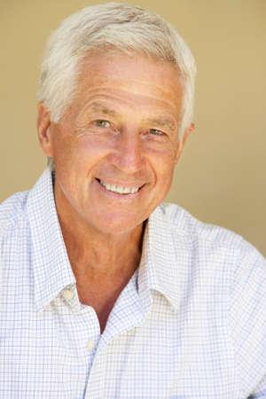 portrait man: Portrait Of Happy Senior Man At Home