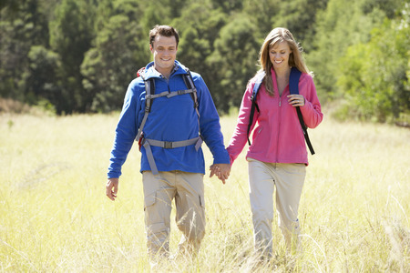 countryside loving: Couple On Hike In Beautiful Countryside