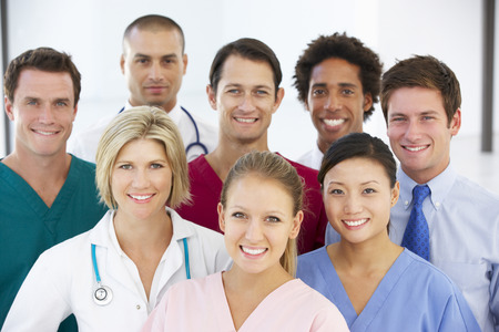 chinese medical: Portrait Of Medical Team Stock Photo