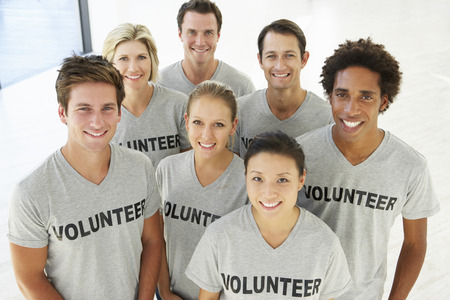 Portrait Of Volunteer Group Stock Photo