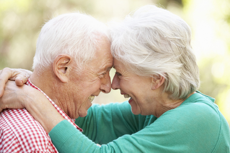 elderly man: Outdoor Portrait Of Happy Senior Couple