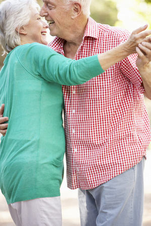 countryside loving: Senior Couple Dancing In Countryside Together