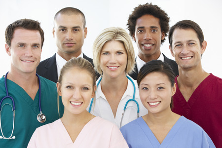 stethescope: Portrait Of Medical Team Stock Photo
