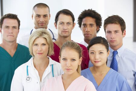 mixed age range: Portrait Of Medical Team Stock Photo