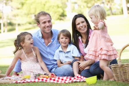 Family Enjoying Picnic Together