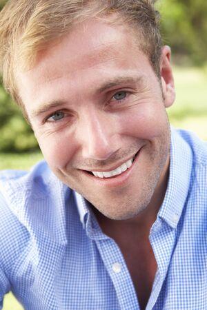 head shoulders: Head And Shoulders Portrait Of Smiling Man