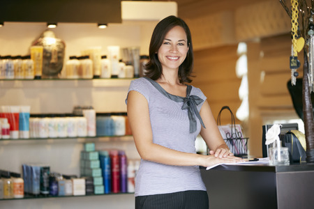 retail: Portrait Beauty Product Shop Manager