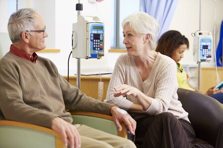 chemo: Senior Woman With Husband During Chemotherapy Treatment