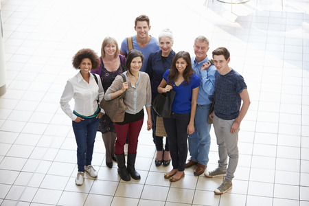 Portrait Of Mature Students On Further Education Course Standard-Bild