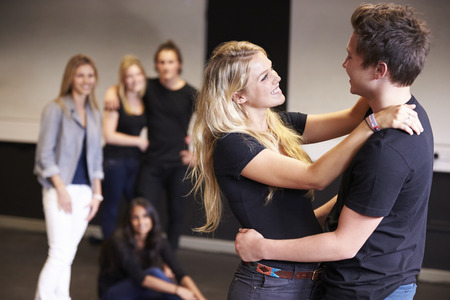Students Taking Acting Class At Drama College