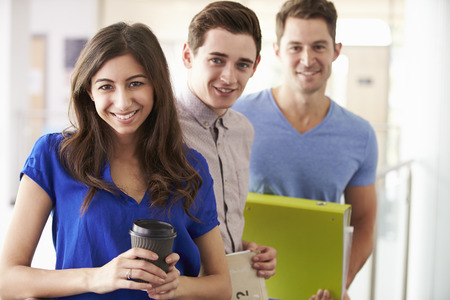further education: Portrait Of University Students On Further Education Course