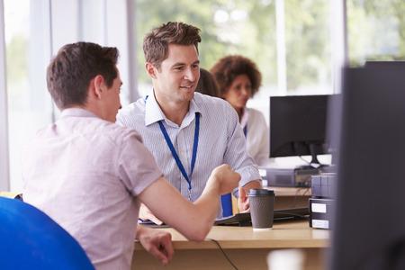 대학 제공하는 조언의 학생 서비스 부서 스톡 콘텐츠