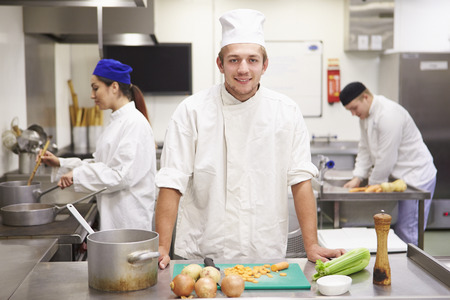 19 years old: Students Training To Work In Catering Industry Stock Photo