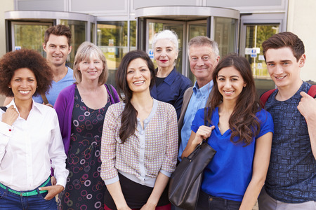 further: Portrait Of Mature Students On Further Education Course Stock Photo
