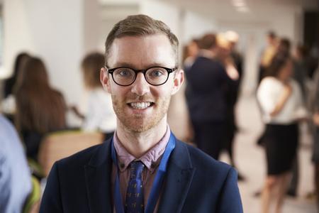 delegar: Portrait Of Male Delegate During Break At Conference