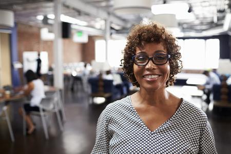Portrait de femme d'affaires d'âge mûr Dans Modern Office Open Plan Banque d'images - 71279220