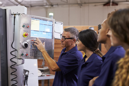 operate: Engineer Training Apprentices On CNC Machine