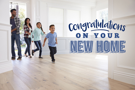 Congratulations On Your New Home. Family Moving In