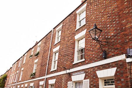 Buitenkant van rijtjeshuizen in Oxford Stockfoto