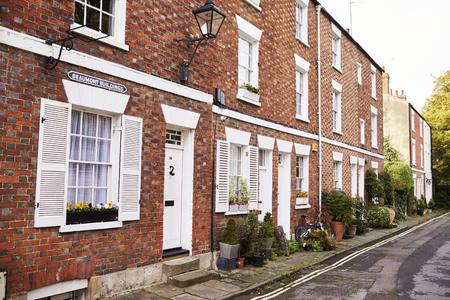 OXFORD  UK-OKTOBER 26 2016: Buitenkant van rijtjeshuizen in Oxford