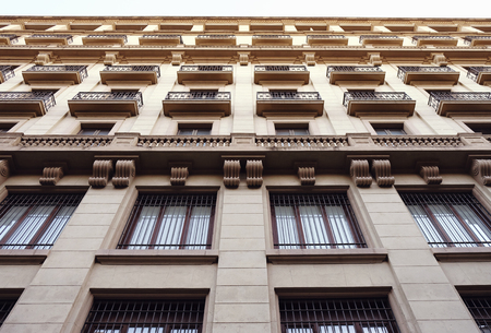 Low angle view of a tall early 20th century building, Barcelona, Spain Reklamní fotografie