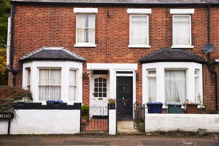 OXFORD  UK- OKTOBER 26 2016: Buitenkant van Victoriaanse Terraced Houses in Oxford