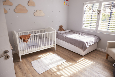 Interior Of Stylish Childs Nursery Stock Photo