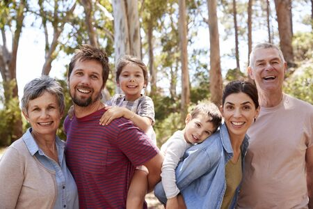 Portrait Of Multi Generation Family On Walk In Countryside Reklamní fotografie