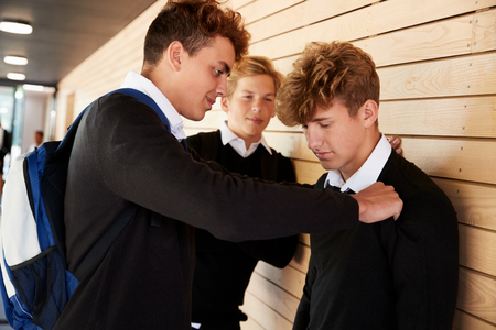 Teenage Boy Being Bullied At School