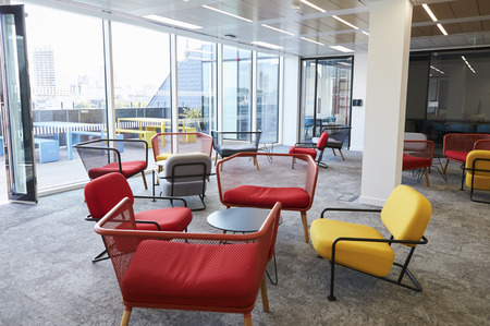 Empty break room at a modern business premises 스톡 콘텐츠