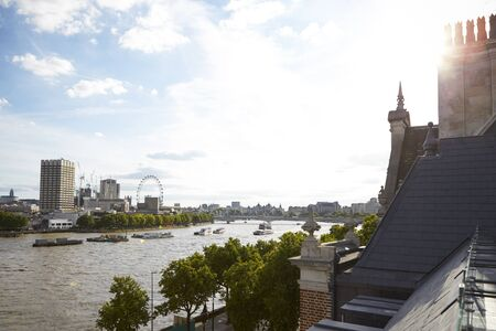 View of London from a roof terrace Reklamní fotografie - 92812699