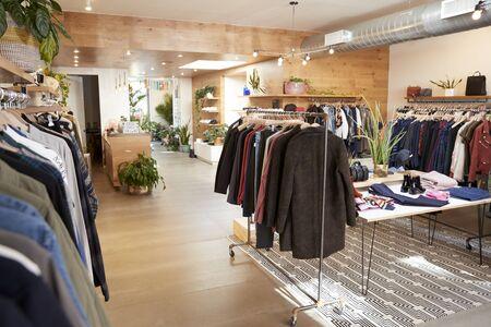 衣料品店のインテリア