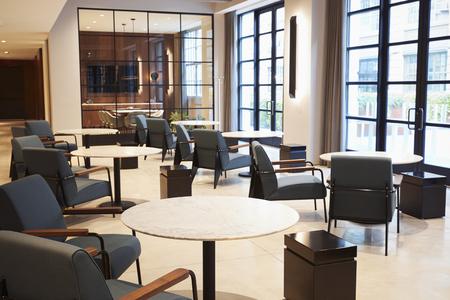 Empty lounge meeting area area in modern business premises Archivio Fotografico