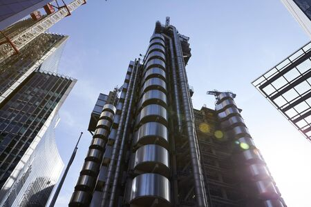 LONDON - MAY, 2017: Lloyds of London building, designed by architect Richard Rogers, Lime Street, City Of London, London, EC3