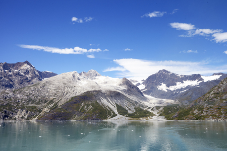 Beautiful Lake In Alaska Surrounded By Mountains