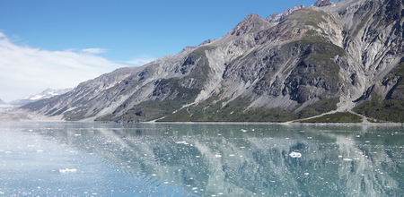 Ice Floating On Surface Of Lake In Alaska