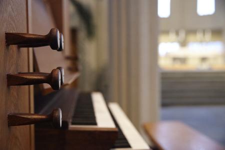 Detail Of Pipe Organ Of Hallgrimskirkja Church In Reykjavik